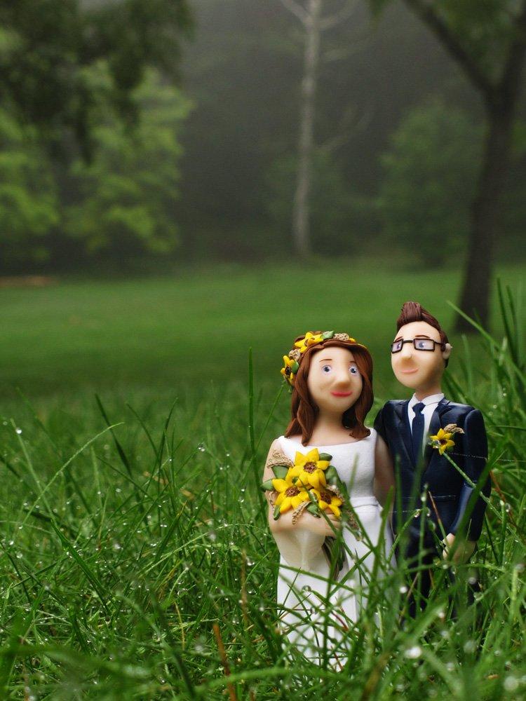 Słonecznikowy ślubny bukiet